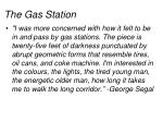 the gas station