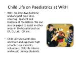 child life on paediatrics at wrh1