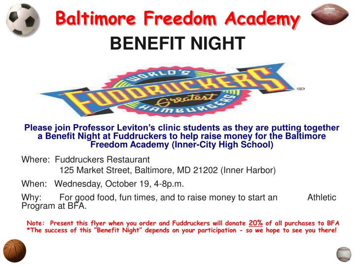 baltimore freedom academy benefit night n.