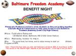 baltimore freedom academy benefit night