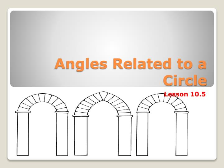 angles related to a circle n.