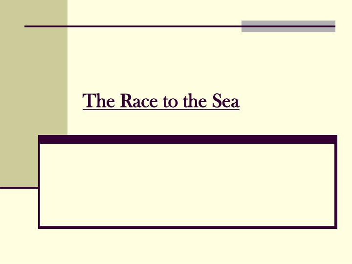 the race to the sea n.