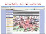 kartenbildschirm bei ornitho de