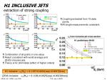 h1 inclusive jets extraction of strong coupling