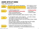 hard jets at hera why what and how