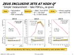 zeus inclusive jets at high q 2 simple measurement take pdfs s as given