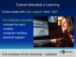 tutored blended e learning