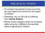 adjusting for inflation