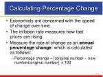 calculating percentage change