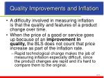 quality improvements and inflation