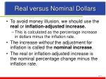 real versus nominal dollars