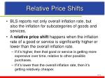 relative price shifts