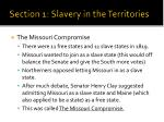 section 1 slavery in the territories