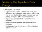 section 4 the republican party emerges