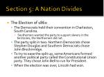 section 5 a nation divides