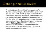 section 5 a nation divides6