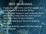 nice wordings