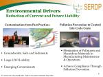 environmental drivers reduction of current and future liability