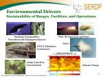 environmental drivers sustainability of ranges facilities and operations