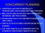 concurrent planning