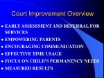 court improvement overview
