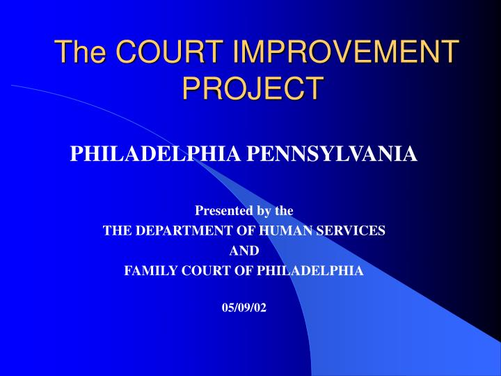the court improvement project n.