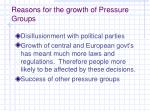 reasons for the growth of pressure groups