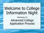 workshop 2 advanced college application process