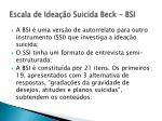escala de idea o suicida beck bsi