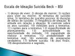 escala de idea o suicida beck bsi1