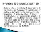 invent rio de depress o beck bdi2