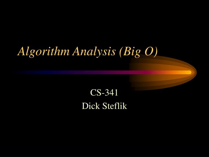 algorithm analysis big o n.