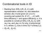 combinatorial tools in id4