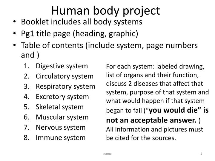 human body project n.