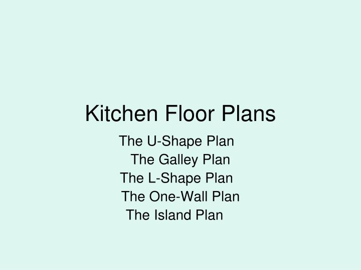 kitchen floor plans n.
