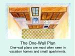 the one wall plan one wall plans are most often seen in vacation homes and small apartments