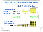 manufacturing advantages of disk arrays