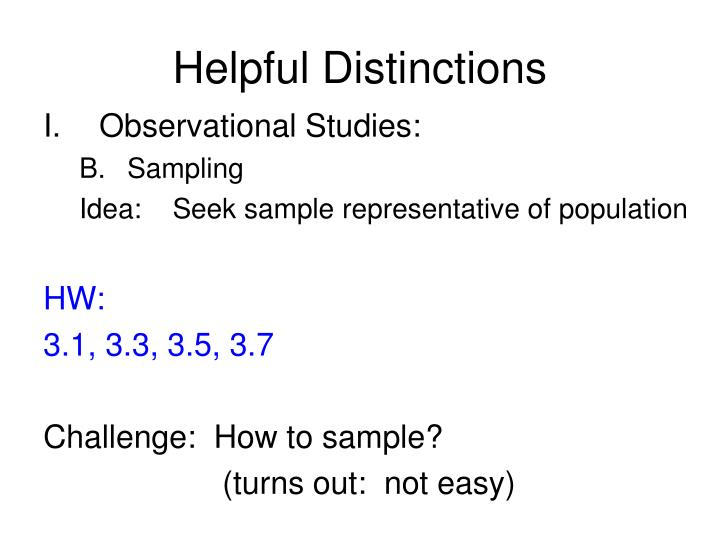 Helpful Distinctions