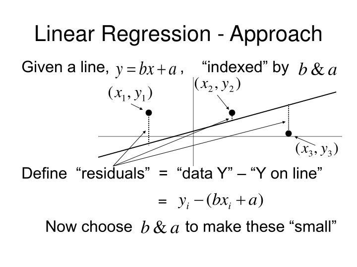 Linear Regression - Approach