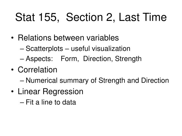 stat 155 section 2 last time n.