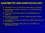 nanometer and nanotechology