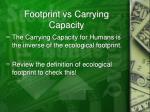 footprint vs carrying capacity
