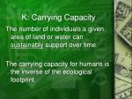 k carrying capacity