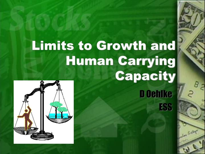 limits to growth and human carrying capacity n.