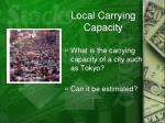 local carrying capacity2