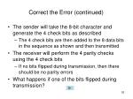 correct the error continued3