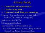a study buddy