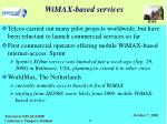 wimax based services