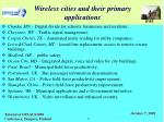 wireless cities and their primary applications