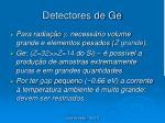 detectores de ge